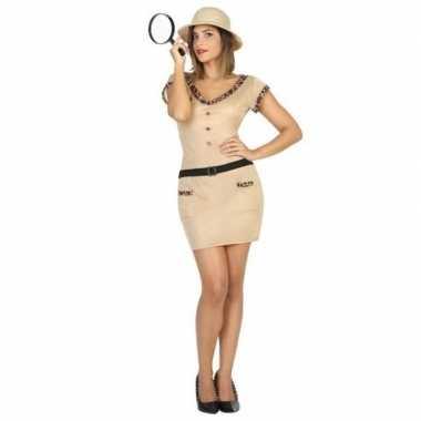 Carnaval/feest jungle explorer verkleedoutfit voor damescarnavalskled