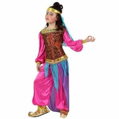 Carnaval/feest kleding 1001 nachten kostuums suheda roze/blauw voor m