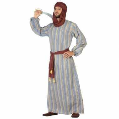 Carnaval/feest lange arabische verkleedoutfit ali voor herencarnavals