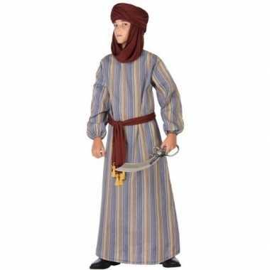 Carnaval/feest lange arabische verkleedoutfit ali voor jongenscarnava