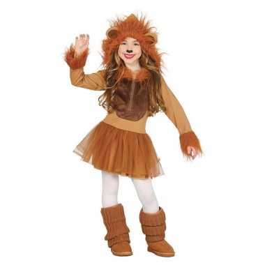 Carnaval/feest leeuw verkleed outfit voor meisjescarnavalskleding