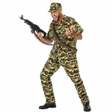 Carnaval/feest leger soldaten/militairen verkleed outfit voor herenca