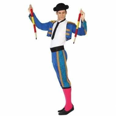 Carnaval/feest matador/stierenvechter verkleedoutfit blauw voor dames