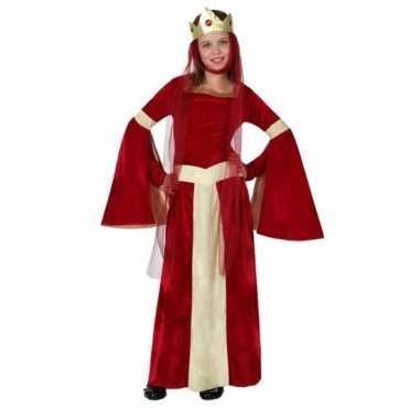 Carnaval/feest middeleeuwse prinsessen/koninginnen verkleedoutfit ele
