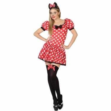 Carnaval/feest muizen verkleedoutfit voor damescarnavalskleding