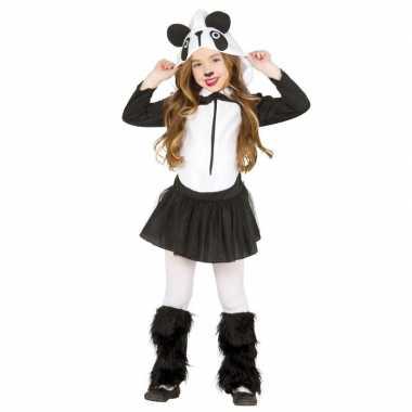 Carnaval/feest pandabeer verkleed outfit voor meisjescarnavalskleding