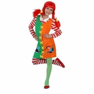 Carnaval/feest pippie verkleedoutfit voor meisjescarnavalskleding