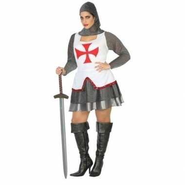 Carnaval/feest ridder/tempelier verkleedoutfit voor damescarnavalskle