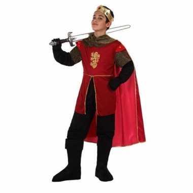 Carnaval/feest ridders/koningen verkleedoutfit henry voor jongenscarn