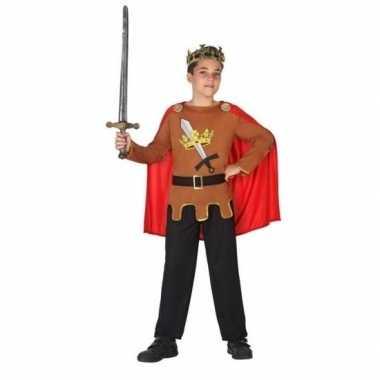 Carnaval/feest ridders/koningen verkleedoutfit voor jongenscarnavalsk