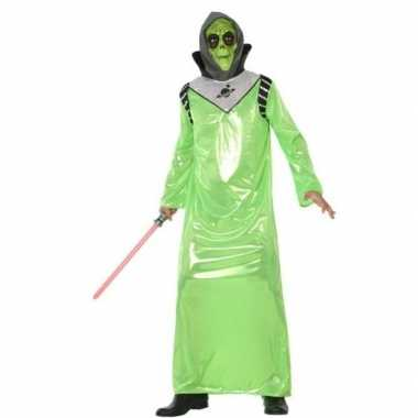 Carnaval feest ruimte aliens verkleed outfit voor volwassenen carnavalskleding
