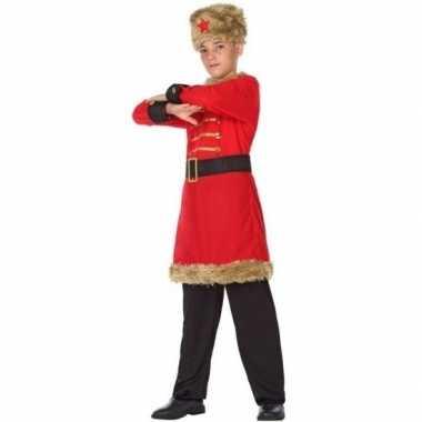 Carnaval/feest russische kozak verkleedoutfit voor jongenscarnavalskl