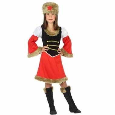 Carnaval/feest russische kozak verkleedoutfit voor meisjescarnavalskl