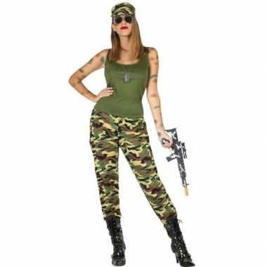 Carnaval/feest soldaten/militairen verkleed outfit voor damescarnaval