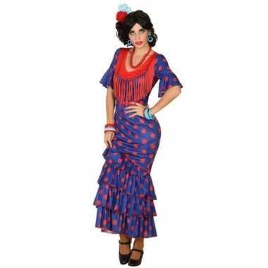 Carnaval/feest spaanse flamenco danseressen verkleedoutfit voor dames