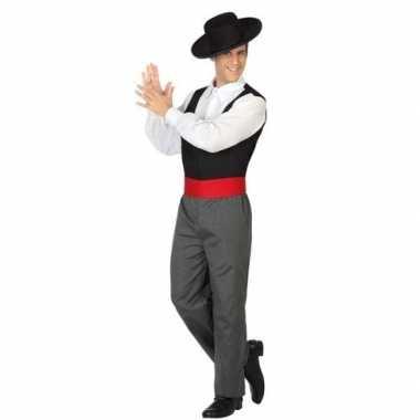 Carnaval/feest spaanse flamenco dansers verkleedoutfit voor herencarn
