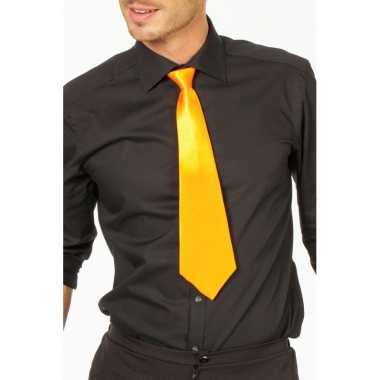 Carnaval/feest stropdas geel 41 cm voor volwassenencarnavalskleding