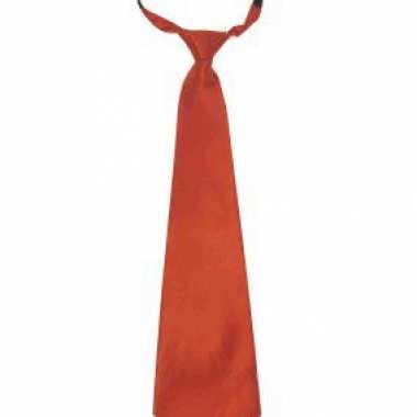 Carnaval/feest stropdas oranje 40 cm voor volwassenencarnavalskleding