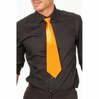 Carnaval/feest stropdas oranje 41 cm voor volwassenencarnavalskleding