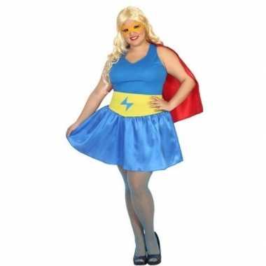 Carnaval/feest superhelden supergirl verkleedoutfit voor damescarnava