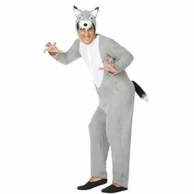 Carnaval/feest wolven verkleedoutfit voor dames/herencarnavalskleding
