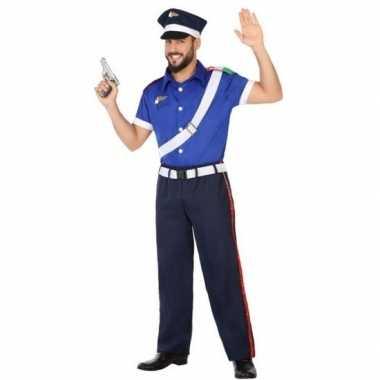 Carnaval italiaanse politie verkleedkleding voor volwassenencarnavals