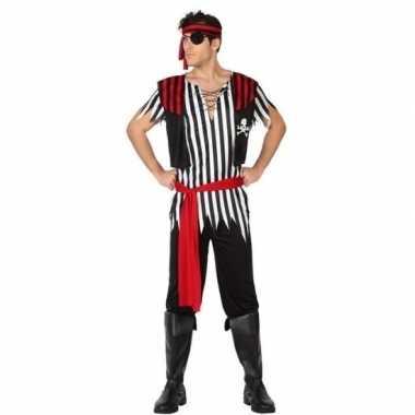 Carnaval piraten verkleedkleding jack voor herencarnavalskleding