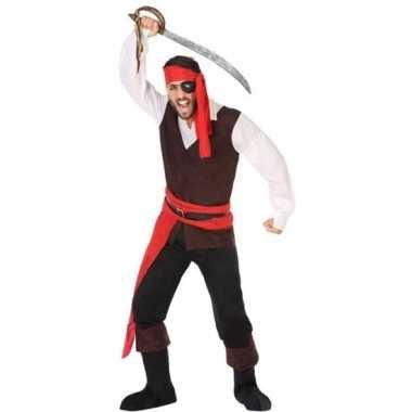 Carnaval piraten verkleedkleding john voor herencarnavalskleding