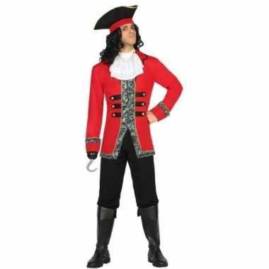 Carnaval piraten verkleedkleding kapitein james voor herencarnavalskl