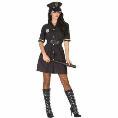 Carnaval politie verkleedkleding zwart voor damescarnavalskleding