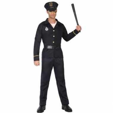 Carnaval politie verkleedkleding zwart voor volwassenencarnavalskledi