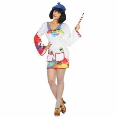 Carnaval schilder verkleedkleding voor damescarnavalskleding