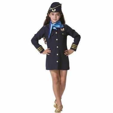 Carnaval stewardess verkleed pakje voor meisjescarnavalskleding