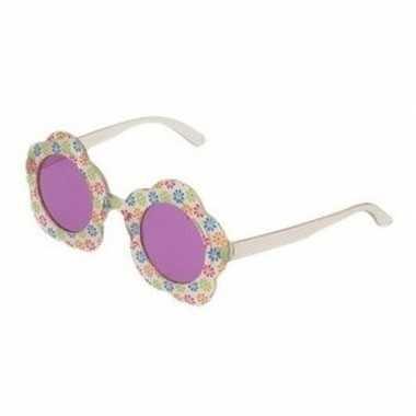 Carnavalaccessoires hippie bril paars voor volwassenen carnavalskleding