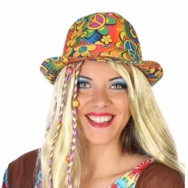 Carnavalaccessoires hippie hoed voor volwassenen carnavalskleding