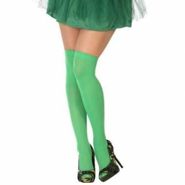 Carnavalaccessoires kousen neon groen voor damescarnavalskleding