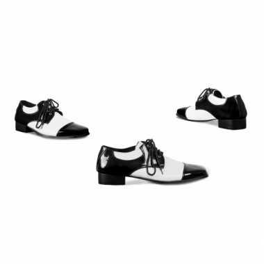 Carnavals schoenen zwart wit carnavalskleding