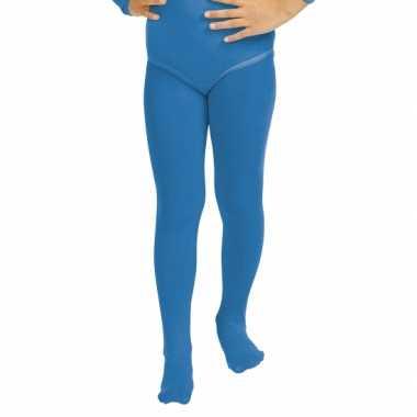Carnavalskleding blauwe kinder panty