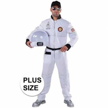 Carnavalskleding grote maat astronaut outfit/kostuum voor volwassenen