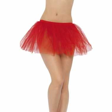 Carnavalskleding/halloween rode duiveltjes rokken/tutus verkleedacces