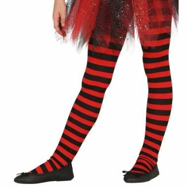 Carnavalskleding/halloween rood/zwarte heksen panties/maillots verkle