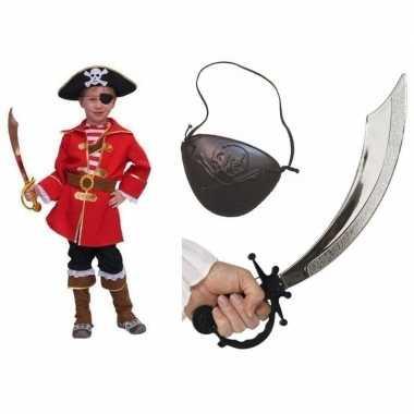 Carnavalskleding kapitein piraat voor kids carnavalskleding