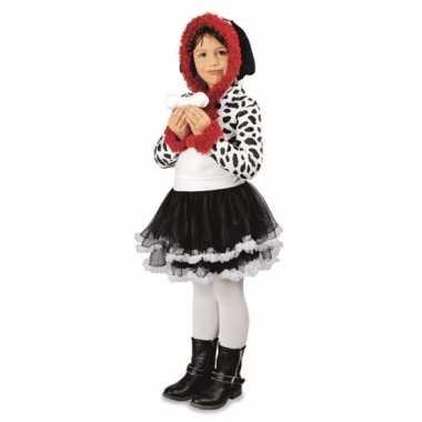 Carnavalskleding meisjes dalmatier hond kostuum