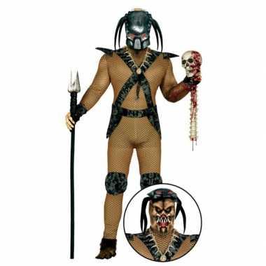 Carnavalskleding monster pak met masker voor heren carnavalskleding