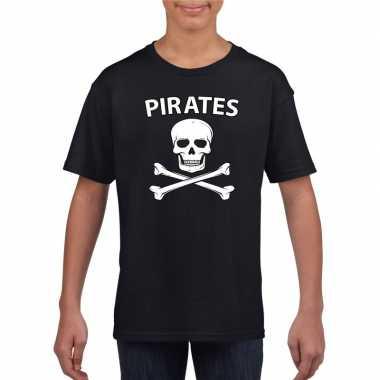 Carnavalskleding piraten shirt zwart kinderen carnavalskleding