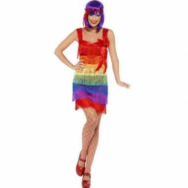 Carnavalskleding regenboog jurkje carnavalskleding