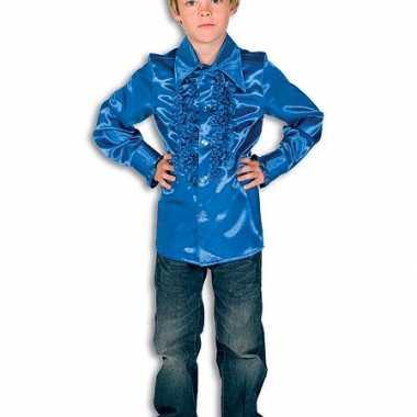 Carnavalskleding rouches kobaltblauw voor kinderen carnavalskleding 10037350