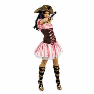 Carnavalskleding roze piraten jurk voor damescarnavalskleding roze pi