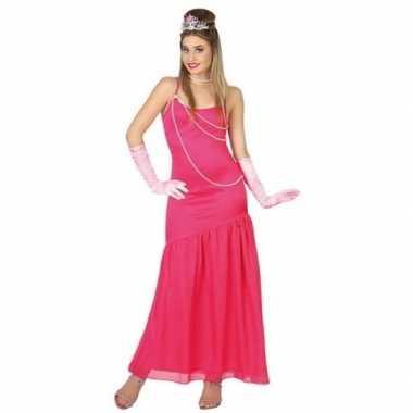 Carnavalskleding roze prinsessen jurk voor dames