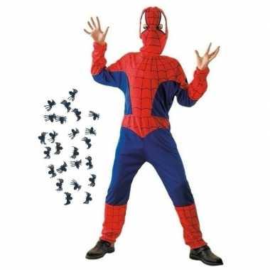 Carnavalskleding spinnenheld kostuum met spinnetjes maat s voor kids carnavalskleding